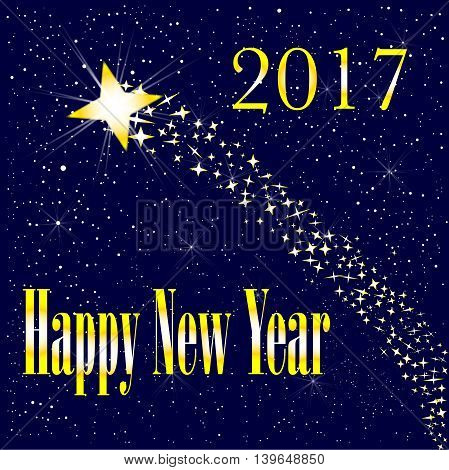 A rising star introducing a happy new year 2017