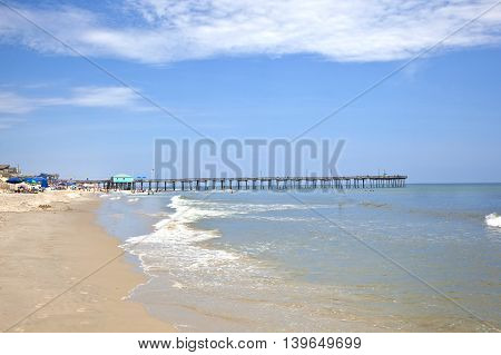 Famous Old Wooden Pier In Nags Head