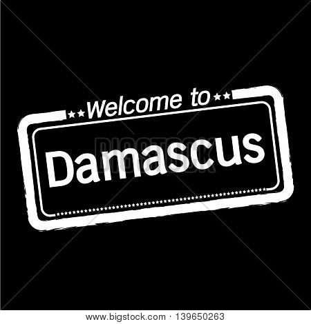 an images of Welcome to Damascus City illustration design