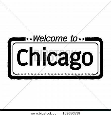 an images of Welcome to Chicago City illustration design
