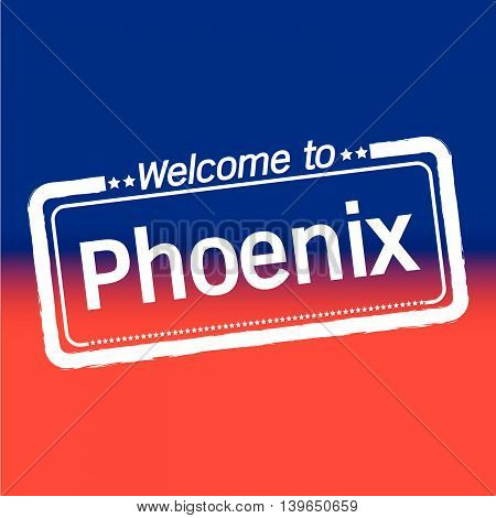 an images of Welcome to Phoenix City illustration design