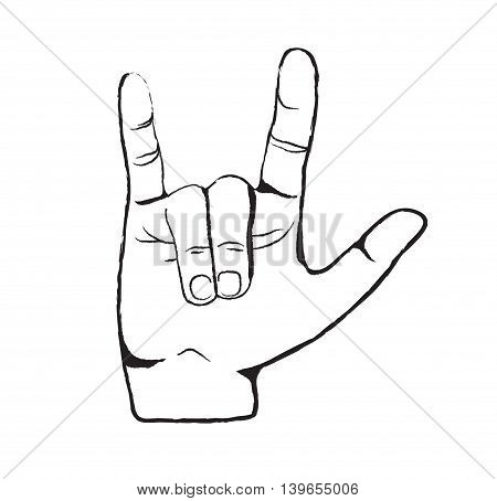 Hand Love Symbol