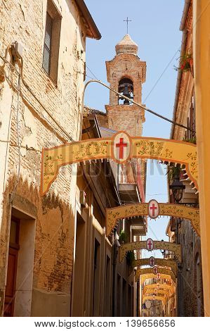 Alley of Bucchianico during of St. Urbano Holiday