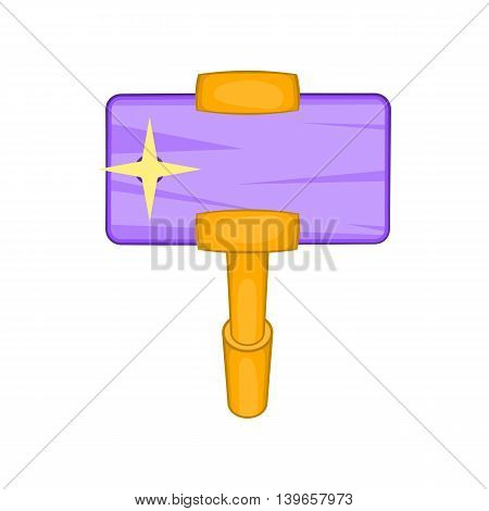 Smartphone and selfie stick icon in cartoon style isolated on white background. Communication symbol