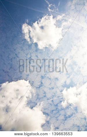 Sky With Harmonic Cloud Structure