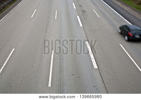 Highway With Lots Of Car In Motion - Rush Concept.