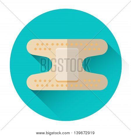Medical Plaster Icon Medicine Flat Vector Illustration