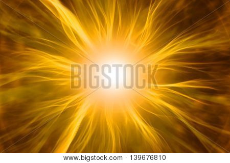 3D illustration cell with energy cosmic rays