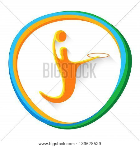Basketball Player Sportsman Sport Game Logo Competition Icon Vector Illustration