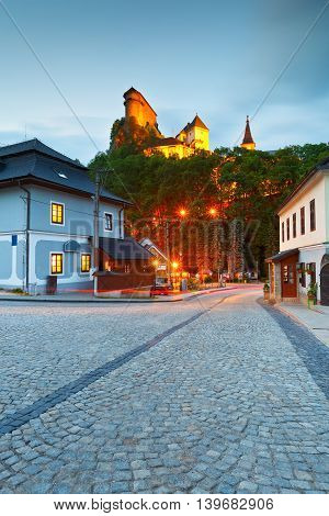View of Orava castle in northern Slovakia.