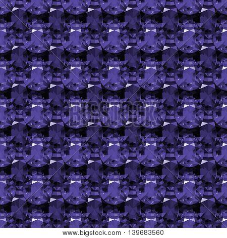 Seamless pattern of blue diamonds. Original geometric vector background. Bright seamless pattern made of precious stones.