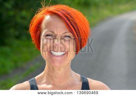 Attractive Vivacious Redhead Woman