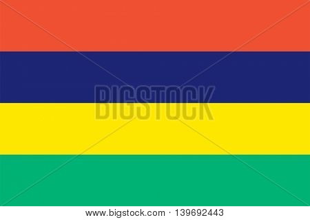 Vector Republic of Mauritius flag