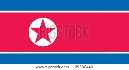 Vector North Korea flag