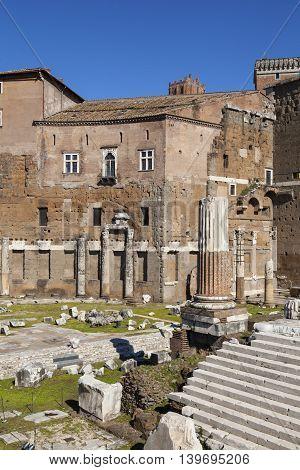 Trajan's Forum (Piazza Foro Traiano) in Rome, Italy.