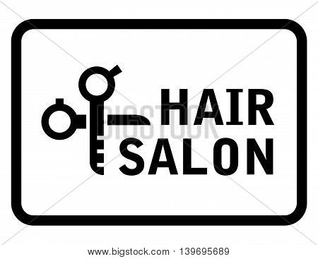 concept isolated hair salon icon with scissors silhouette