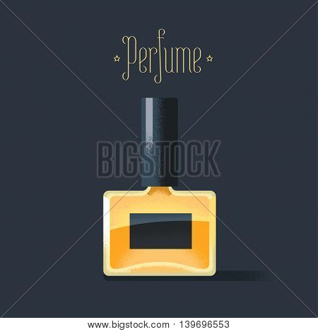 Deodorant, perfume vector illustration. Aroma, scent, concept visual with spray bottle of deodorant