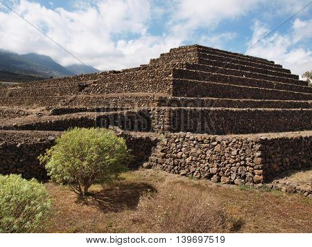 Misterious Pyramid in Guimar in Tenerife, Canary Islands