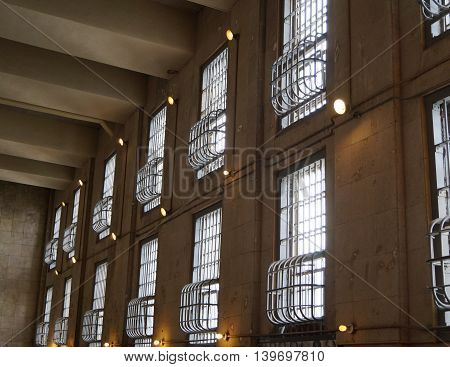 Windows in a Maximum Security Prison Facility