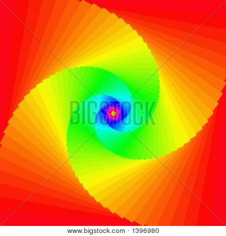 Multicolored hypnotic digital art background mystical wallpaper poster