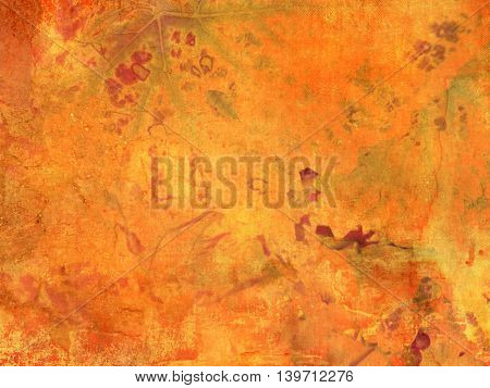 Abstract fall background orange in retro style