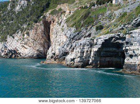 Bue Marino cave entrance in liguria Italy