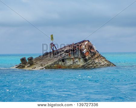 The HMS Vixen Shipwreck off Daniel's Head in Western Bermuda