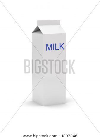 Gable Top Carton With A Label - Milk
