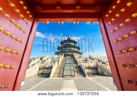 Temple of Heaven in Beijing, China. poster
