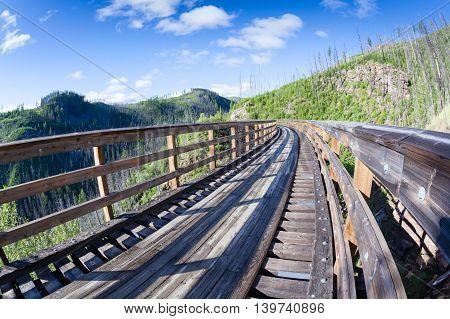 Historic Trestle At Myra Canyon Provincial Park, Canada