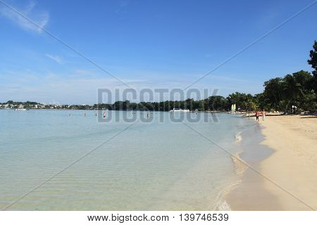 Negril Jamaica - October 19 :Tropical resort beach activity on October 19 2015 in Negril Jamaica