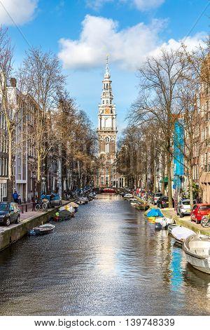 South Church Zuiderkerk and Amsterdam Canals Netherlands