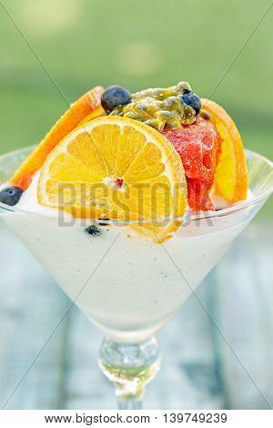 Strawberry Sorbet Martini