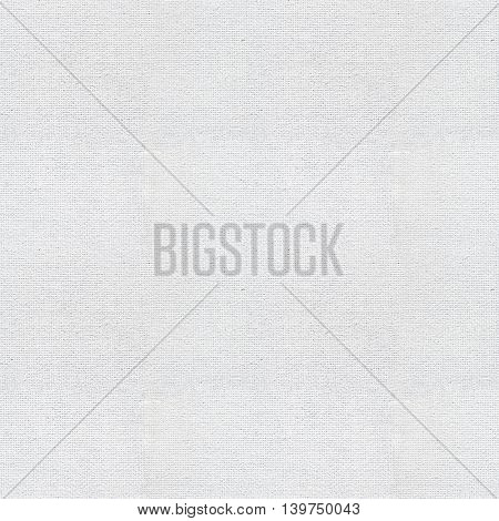 Seamless white canvas paper background. Endless fabric pattern. The high resolution blank texture.