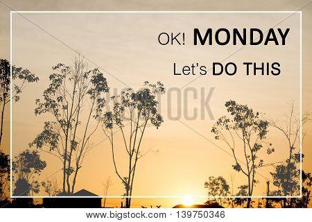 Inspirational Motivational Quote On Beautiful Of Sunset Background
