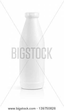 blank packaging beverage plastic bottle isolated on white background with clipping path