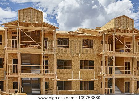Commercial building construction industry multi floor framing
