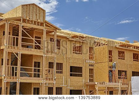 Commercial building construction project industry job site