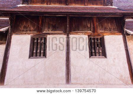 Wat Ton Kain , Wooden chapel in chiangmai, Thailand