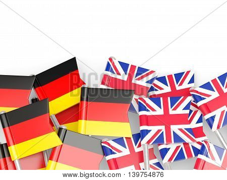 Flags Of Germany And Uk Isolated On White