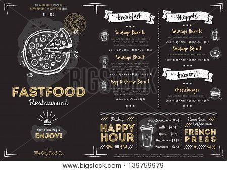 chalkboard menu vector photo free trial bigstock