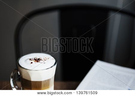 Coffee Caffeine Cafe Reading Concept poster