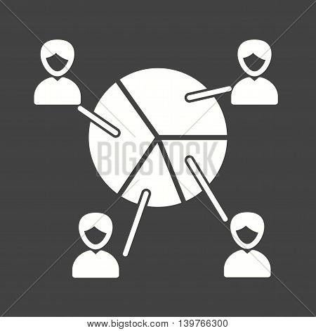Poll, percent, portion icon vector image.Can also be used for elections. Suitable for web apps, mobile apps and print media.