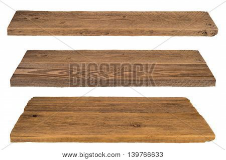 Wooden shelves isolated on white Wooden shelves isolated on white
