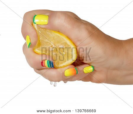 Female Hand With Lemon