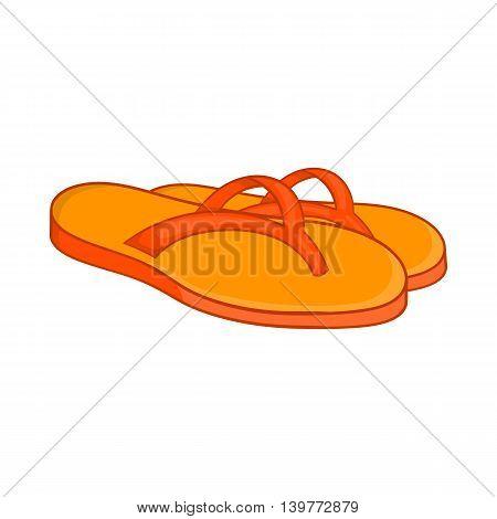 Slates icon in cartoon style isolated on white background. Shoes symbol