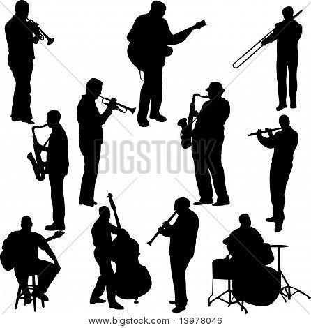 musicians collection - vector
