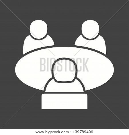 Job, panel, interview icon vector image. Can also be used for employment. Suitable for use on web apps, mobile apps and print media.