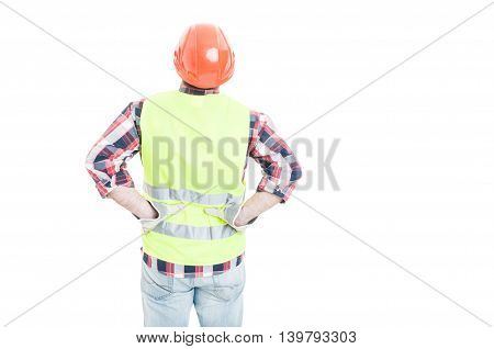 Male Engineer Holding His Hands On Lower Back