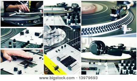 Collage Of A Dj Equipment